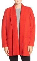 Eileen Fisher Boiled Wool Shawl Collar Jacket (Regular & Petite)