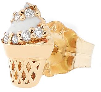 Alison Lou Single Ice Cream Cone Stud Earring