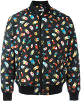 Love Moschino space print bomber jacket