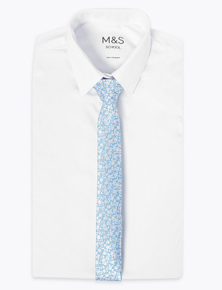Marks and Spencer Kids' Daisy Woven Skinny Tie
