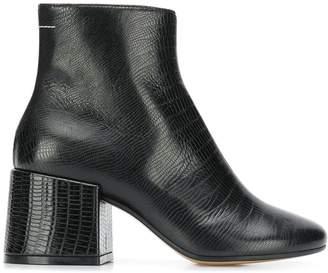 MM6 MAISON MARGIELA chunky heel ankle boots