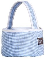 Trend Lab Blue Gingham Seersucker Collapsible Round Caddy by