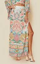 Spell lotus maxi split skirt