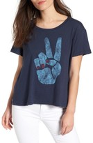 Sundry Women's Peace Sign Tee