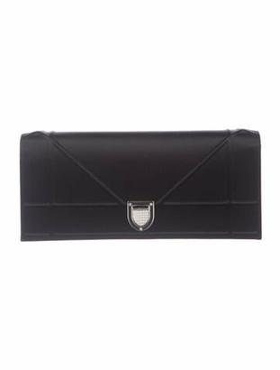 Christian Dior Diorama Satin Chain Clutch Black