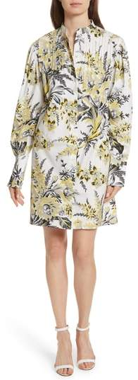 Diane von Furstenberg Pintuck Shirtdress