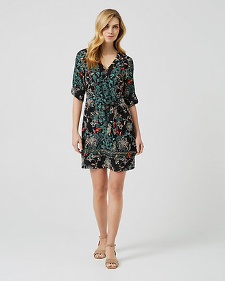 Le Château Floral Print V-Neck Tunic Dress
