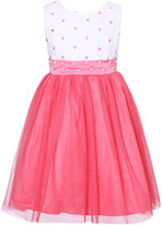 Richie House Girls' Special Occasion Dresses White - White & Rose Pearl Sash Overlay Dress - Toddler