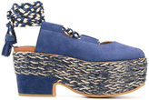 See by Chloe rope detail sandals - women - Leather/Suede/rubber - 36