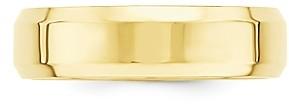 Bloomingdale's Men's 6mm Bevel Edge Comfort Fit Band 14K Yellow Gold - 100% Exclusive