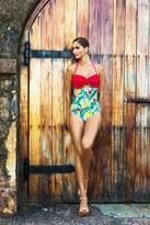 Shabby Apple Plátano Swimsuit Red
