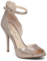 Jessica Simpson Bellona Scalloped Leather Sandals