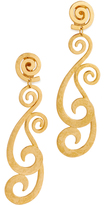 Ben-Amun Swirly Clip On Earrings