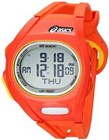 Asics Unisex CQAR0107 Orange and Yellow Digital Running Watch