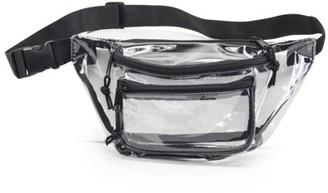 clear K Cliffs K-Cliffs Fanny Pack See Through Waist Bag 3 Pockets Transparent Travel Hip Bum Packs Waistpack Sling Crossbody Belt Bags Black