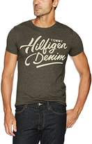 Tommy Hilfiger Men's T-Shirt Script Logo With Short Sleeves