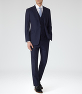 Reiss Garda Peak Lapel Three Piece Suit Navy