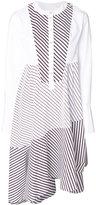Carven striped asymmetric dress - women - Cotton - 34