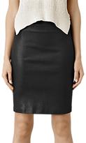 AllSaints Metal Pencil Skirt, Black
