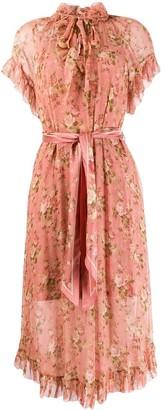Zimmermann ruffled floral day dress
