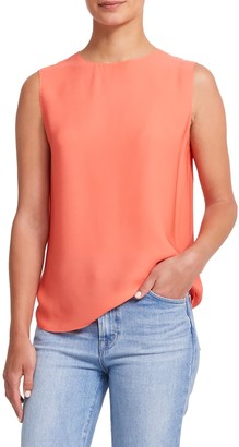 Theory Continuous Shell Silk Tank Top