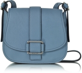 Michael Kors Maxine Large Denim Leather Saddle Bag