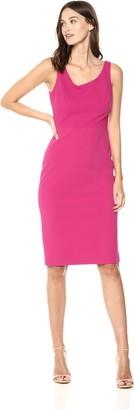 Betsey Johnson Women's Stretch Crepe Midi Dress