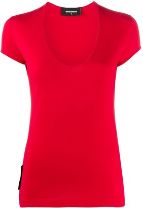 DSQUARED2 scoop neck fitted T-shirt