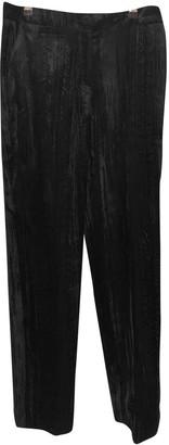 Topshop Tophop Unique Black Velvet Trousers for Women