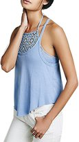 The Bazaar R Ladies 2 Pcs Knitted Halter Sleeveless Spaghetti Strap Crop Tops