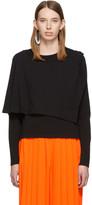 MM6 MAISON MARGIELA Black Double Layer Long Sleeve T-Shirt