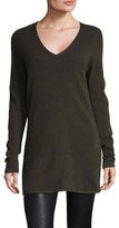 Cashmere Solid V Neck Tunic