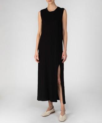 Atm Slub Jersey Muscle Tank Dress - Black