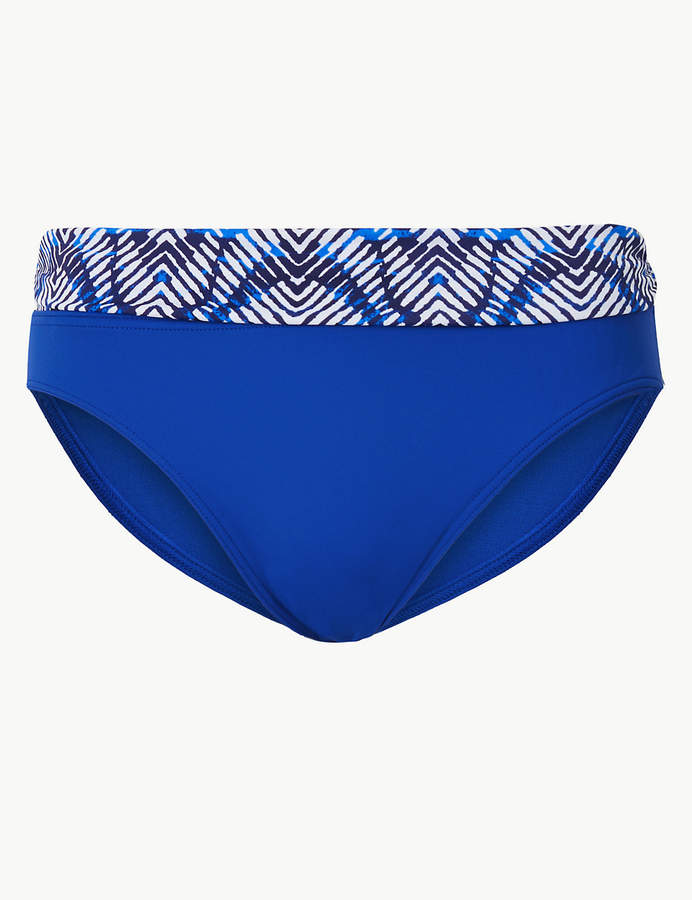 Marks and Spencer Printed Roll Top Bikini Bottoms