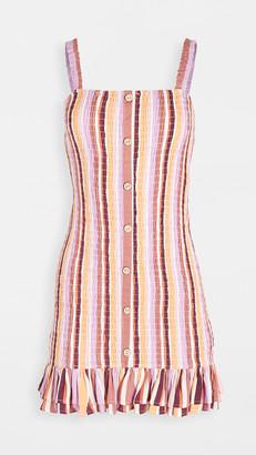 MinkPink Ilos Shirred Mini Dress