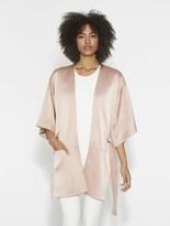 Halston Satin Back Crepe Kimono Wrap