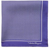 Salvatore Ferragamo Gancini Diamond Pocket Square