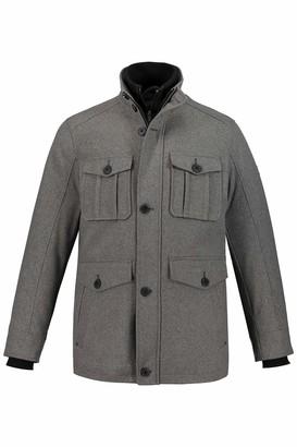 JP 1880 Men's Big & Tall Wool Jacket Light Gray-Melange XXX-Large 723449 12-3XL