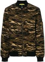 Puma camouflage print bomber