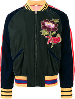 Gucci Green Embroidered bomber jacket - men - Polyester/Cupro - 50