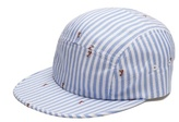 MAISON KITSUNÉ Striped cotton cap