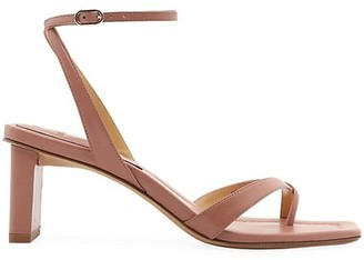 Alexandre Birman Nelly Leather Thong Sandals