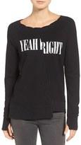 Pam & Gela Women's Yeah/right Cotton Sweatshirt