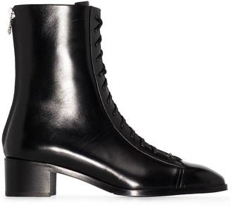 AEYDĒ Noel 40mm leather ankle boots