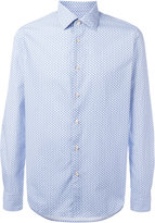 Xacus geometric print button-up shirt - men - Cotton - 38