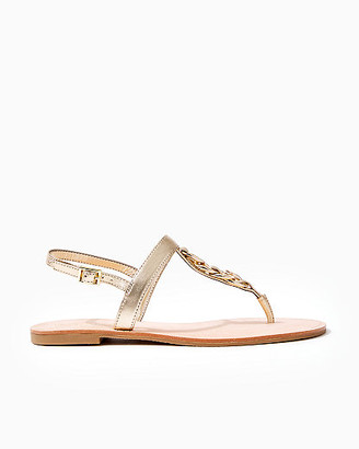 Lilly Pulitzer Largo T-Strap Gold Sandal