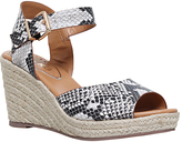 Miss KG Paisley Wedge Heeled Sandals, Beige Comb