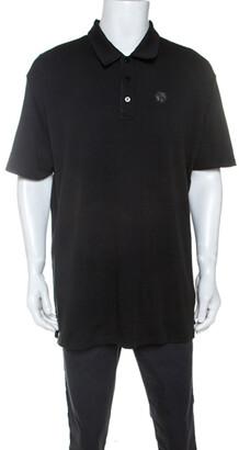 Philipp Plein Black Cotton Mind If I Stay Polo Shirt 4XL