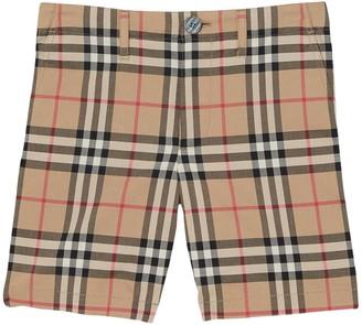 Burberry Kids Checked Bermuda Shorts