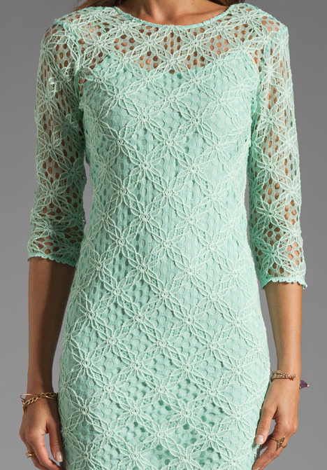 Dolce Vita Cat Crochet Lace Long Sleeve Dress